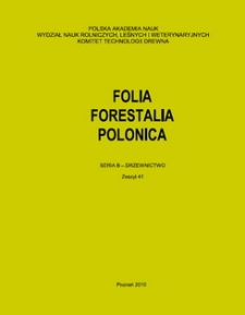 Folia Forestalia Polonica, Seria B - Drzewnictwo