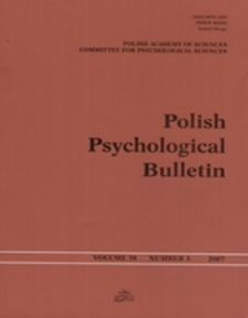 Polish Psychological Bulletin