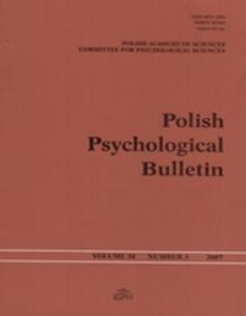 Polish Psychological Bulletin