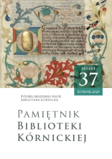 Pamiętnik Biblioteki Kórnickiej