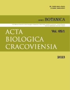 Acta Biologica Cracoviensia s. Botanica