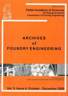 Archives of Foundry Engineering